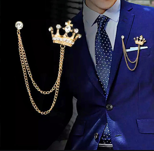 Crown Lapel Pins
