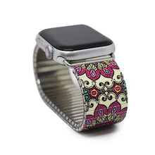 Load image into Gallery viewer, Mediterranean Tile - Antibes Banded Apple watch Classic Finish