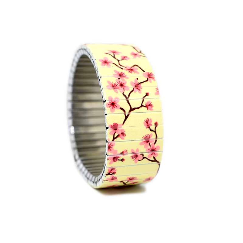Banded-Berlin Bracelets - Cherry Blossoms Cream