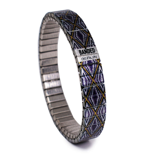 Metropolis- Marlene 10mm Metallic Finish by Banded Berlin Bracelets