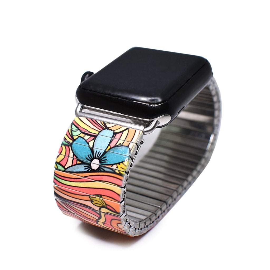 Squiggle-Flower- Pop-Apple watch banded