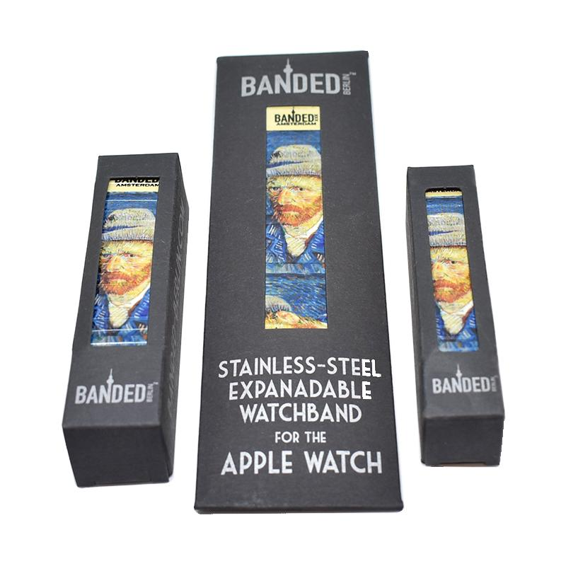 packaging for the Self Portrait by Van Gogh for the Banded Amsterdam Apple Watch band Iconic Artist series