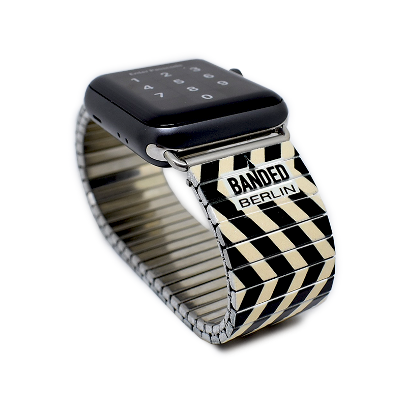 Zig Zagerated by Banded Berlin for apple watch, designed in Berlin, hand crafted in Germany © 2019, banded berlin