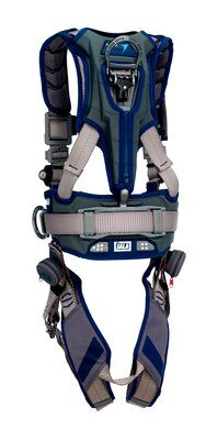 3M™ DBI-SALA® ExoFit STRATA™ Construction Style Positioning Harness 1112538, Grey, Blue