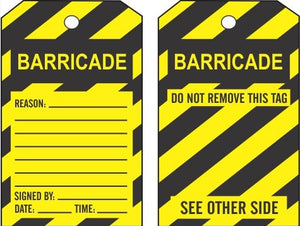 GENERAL BARRICADE TAGS