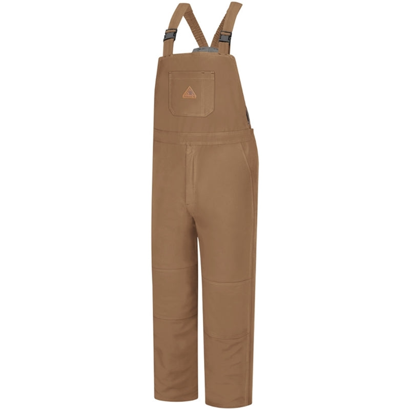 Bulwark EXCEL FR® ComforTouch® Insulated Bib Overall Brown Duck