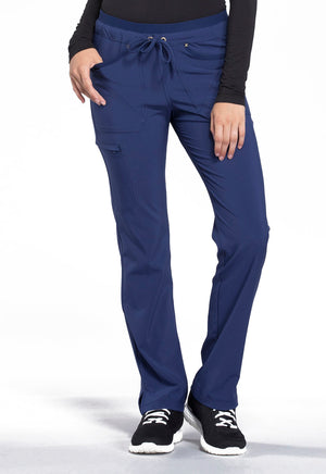 CK010 Cherokee Tall Mid Rise Tapered Leg Drawstring Pants
