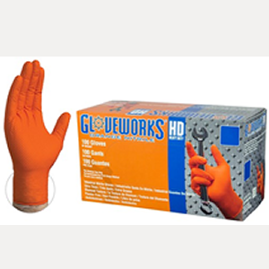 Gloveworks HD Orange Nitrile