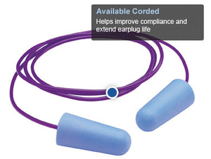 GloPlugz® Corded Blue Earplugs