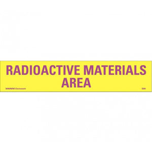 RADIOACTIVE MATERIALS AREA  Solar Grade Polycarbonate 1.625 x 8;  Purple on Yellow