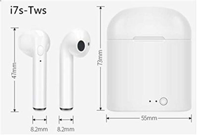 i7S TWS Wireless Earbuds with Charger Carrying Case.