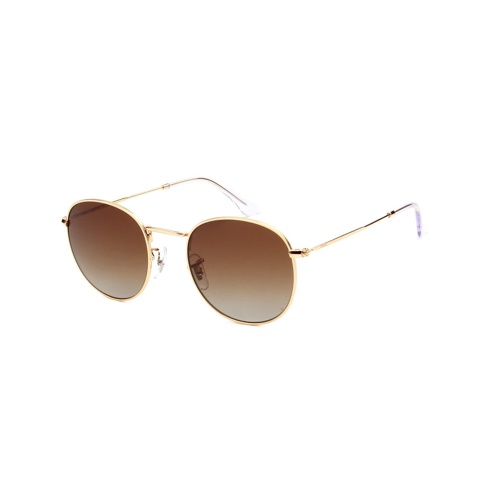 Monte Carlo Gold - Angle View - Brown Gradient lens - Mawu sunglasses