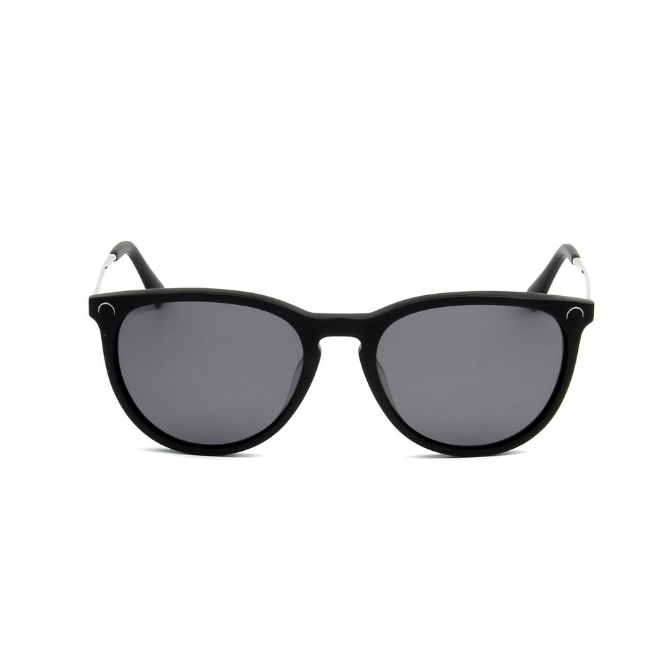 Ovea Matte Black - Front View - Dark Grey lens - Mawu sunglasses