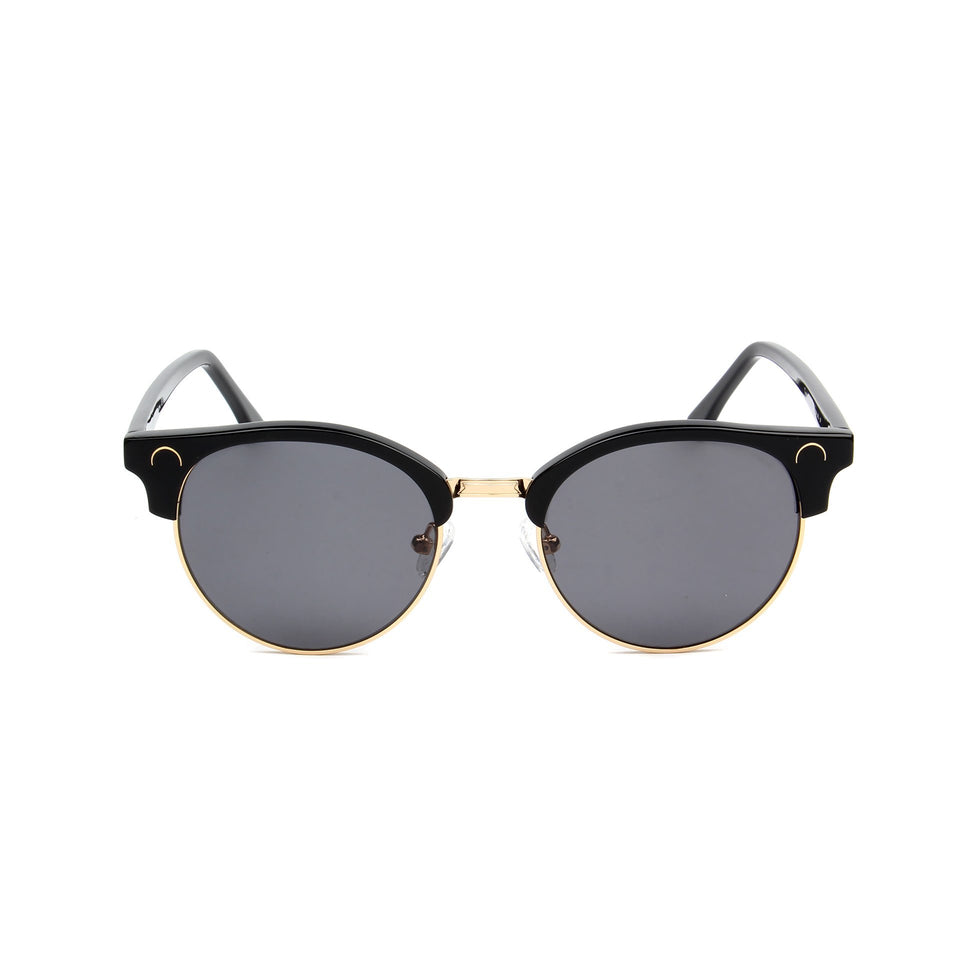 Tropez Jet Black - Front View - Dark Grey lens - Mawu sunglasses