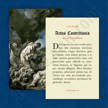 Load image into Gallery viewer, Act of Contrition Prayer Card in Latin