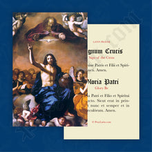 Load image into Gallery viewer, Sign of the Cross & Glory Be Prayer Card in Latin