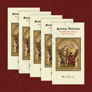 Latin-English Rosary Pamphlet