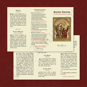 Latin Rosary Pamphlet
