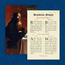 Load image into Gallery viewer, Meal Blessing Prayer Card in Latin and English