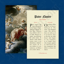 Load image into Gallery viewer, Our Father Prayer Card in Latin and English