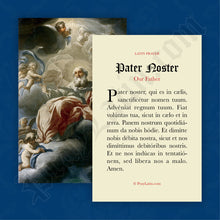 Load image into Gallery viewer, Pater Noster Prayer Card in Latin