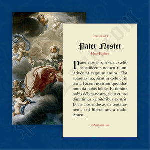 Pater Noster Prayer Card in Latin