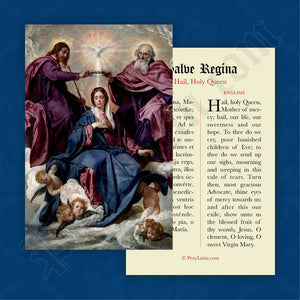 Hail, Holy Queen Prayer Card in Latin and English