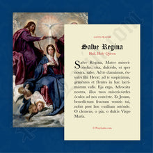 Load image into Gallery viewer, Hail, Holy Queen Prayer Card in Latin