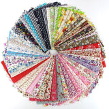 60 Pcs Fabric Cotton 100% Printed Boundle Patchwork Squares of 20*25cm - Raylinedo