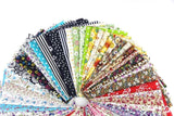 60 Pcs Fabric Cotton 100% Printed Boundle Patchwork Squares of 10*10cm - Raylinedo