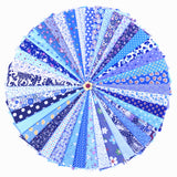 42PCS 20*30cm Assorted Pre-Cut Printing Cotton Cloth Material Mixed Squares Bundle Quilt Fabric Patchwork For DIY Handmade Craft, Blue Color Series - Raylinedo