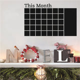 Fashion Designed Removed Vinyl Monthly Calendar Blackboard Wall Sticker Black Color Wall Sticker House Decoration Wall Decoration B - Raylinedo