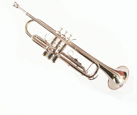 Drop B Three-Tone Baja Trumpet Professional Playing Nickel Trumpet - Raylinedo