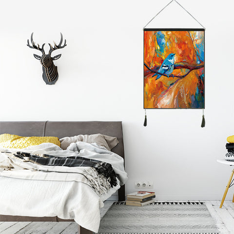 Oil Painting Pattern Mini Tapestry Wall Hanging Decor Art Home Decoration Bedroom Living Room Dorm Wall Hangings Tapestries 18X25Inch/45X65CM
