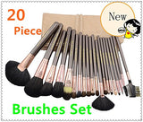 20PCS High Quality Stylish Professional Wool Makeup Tools Cosmetic Brushes Wooden Handle Kit Set With Cosmetic Bag - Raylinedo