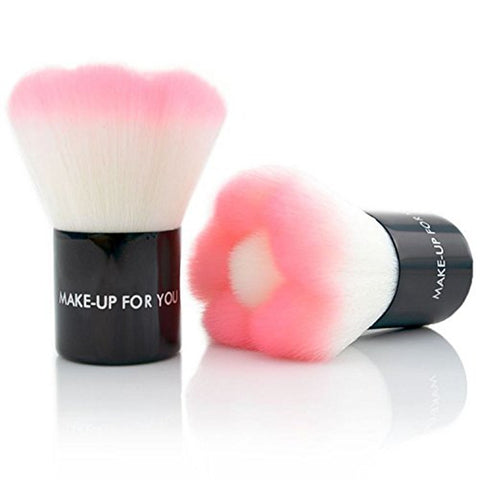 Flower Shape Make up Face Powder Brush Kabuki Blush Brush Mushroorn Makeup Tools With Case - Raylinedo