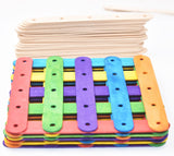 100pcs Wooden Ice Cream Stick Lollipop Popsicle Stick 15 x 1.8 x 0.16cm Natural color and Multicoloured - Raylinedo