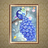 DIY 5D Diamond Painting, Peacock, Diamond Embroidery Pictures Arts Craft For Home Wall Decoration - Raylinedo
