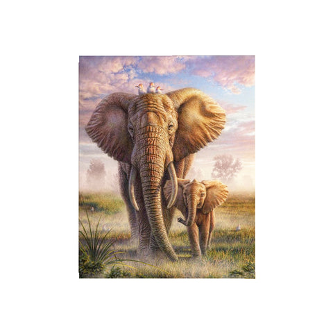 DIY 5D Diamond Painting, Elephant, Diamond Embroidery Pictures Arts Craft For Home Wall Decoration - Raylinedo