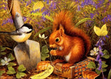 DIY 5D Diamond Painting, Squirrels, Diamond Embroidery Pictures Arts Craft For Home Wall Decoration - Raylinedo