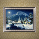 DIY 5D Diamond Painting, Snowscape, Diamond Embroidery Pictures Arts Craft For Home Wall Decoration - Raylinedo