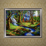 DIY 5D Diamond Painting, Forest, Diamond Embroidery Pictures Arts Craft For Home Wall Decoration - Raylinedo
