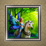 DIY 5D Diamond Painting, Elf, Diamond Embroidery Pictures Arts Craft For Home Wall Decoration - Raylinedo