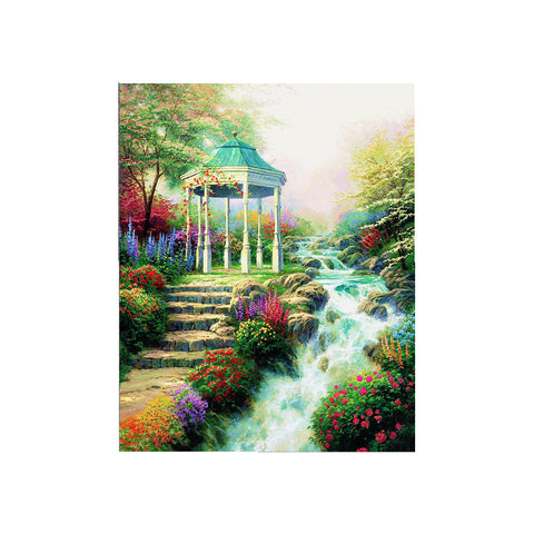 DIY 5D Diamond Painting, Pavilion, Diamond Embroidery Pictures Arts Craft For Home Wall Decoration - Raylinedo