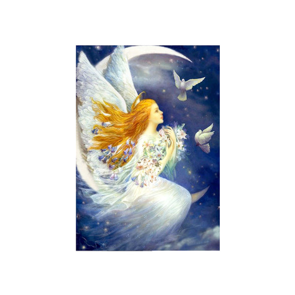 DIY 5D Diamond Painting, Angel, Diamond Embroidery Pictures Arts Craft For Home Wall Decoration - Raylinedo