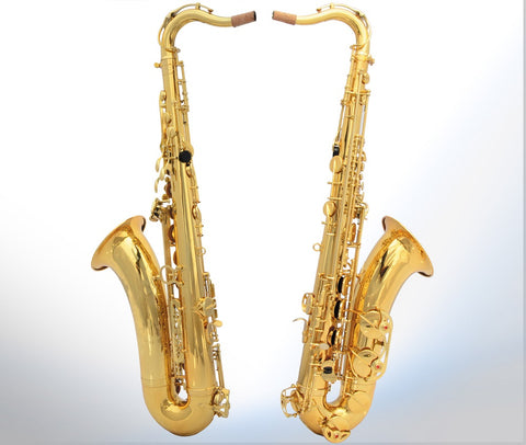 Drop B Paint Gold Tenor Saxophone - Raylinedo