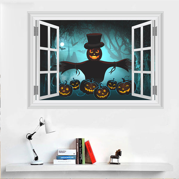 Happy Halloween Fashion Designed Removed Vinyl Wall Sticker House Decoration Wall Decoration C - Raylinedo