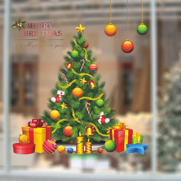 Merry Christmas Fashion Designed Removed Vinyl Wall Sticker Happy New Year Wall Sticker House Decoration Wall Decoration 2 - Raylinedo