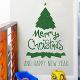 Merry Christmas Fashion Designed Removed Vinyl Wall Sticker Happy New Year Wall Sticker House Decoration Wall Decoration 11 - Raylinedo