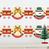Merry Christmas Fashion Designed Removed Vinyl Wall Sticker Happy New Year Wall Sticker House Decoration Wall Decoration 14 - Raylinedo